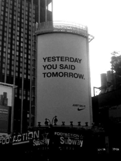 YesterdayYouSaidTomorrow_nike